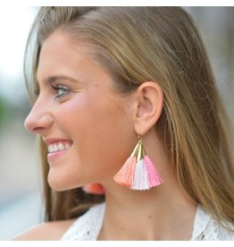 Jewelry 34 Ombre Trio Tassel Earrings