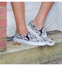 Shoes 54 Snake White Black Sneaker