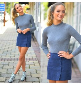 Skirts 62 Cute As A Button Corduroy Navy Skirt