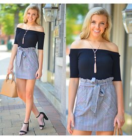 Skirts 62 Fall Plaid Paper Bag Grey Skirt