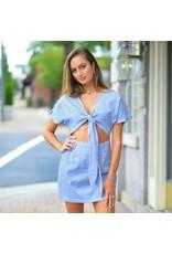 Dresses 22 Carolina Dream Tie Front Blue Dress