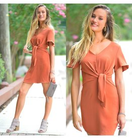 Dresses 22 Fall In Love Front Knot Spice Dress