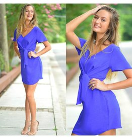 Dresses 22 Fall In Love Front Knot Royal Blue Dress