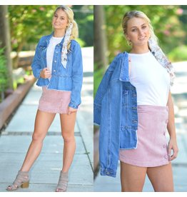 Skirts 62 Cute As A Button Corduroy Pink Skirt