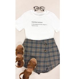Shorts 58 Ready For Fall Plaid Skort