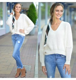 Tops 66 Fall For Me Beige Sweater