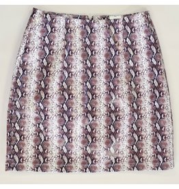 Skirts 62 Snakeskin Print Burgundy Skirt