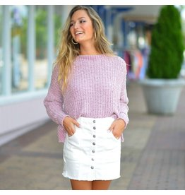 Shorts 58 Denim Love Quilted Front White Skirt