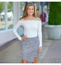 Skirts 62 Fall With Me Black Striped Skirt