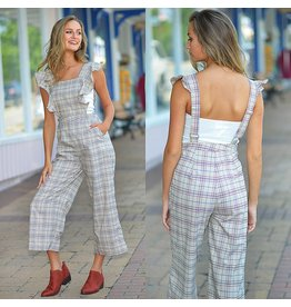 Jumpsuit Rainey Ruffle & Plaid Jumpsuit