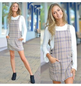Dresses 22 Your Plaid Way Camel Jumper