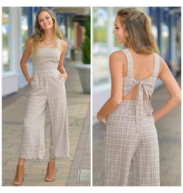 Jumpsuit New Directions Fall Plaid Jumpsuit