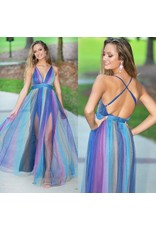 Dresses 22 Navy Rainbow Tulle Formal Dress