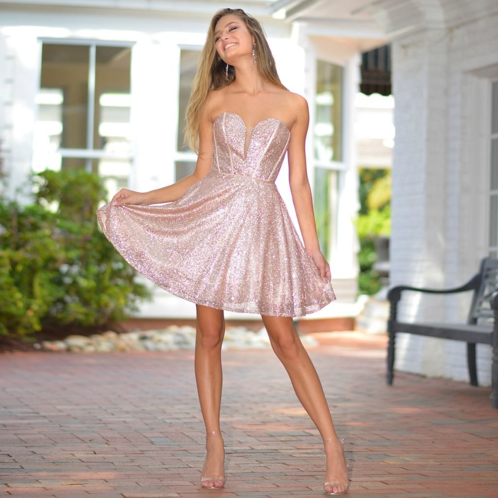 Formalwear Starry Night Rose Gold Party Dress