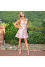Formalwear Sparkle Rose Gold Party Dress