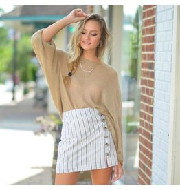 Tops 66 Time For Toffee Tie Sleeve Sweater
