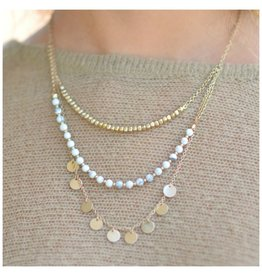 Jewelry 34 Disc & Stone Lyrd Necklace