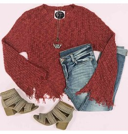 Tops 66 Fall Love Rust Sweater