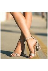 Shoes 54 Snake Print Block Heels