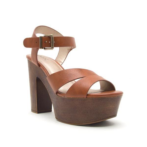 Shoes 54 No Doubt Tan Wooden Heel
