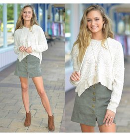 Skirts 62 Cute As A Button Fall Corduroy Olive Skirt
