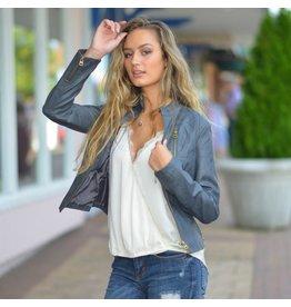 Outerwear Take Me On Grey Bomber Jacket