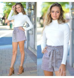 Shorts 58 Pretty in Plaid Paper Bag Waist Shorts