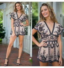 Rompers 48 Enchanted Night Embroidered Romper