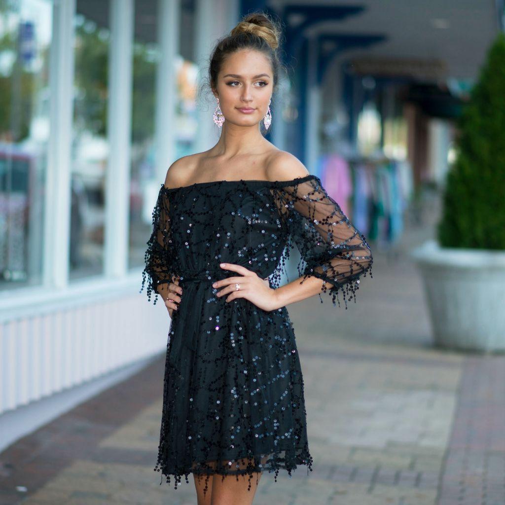 Dresses 22 Festive Party Sequin LBD