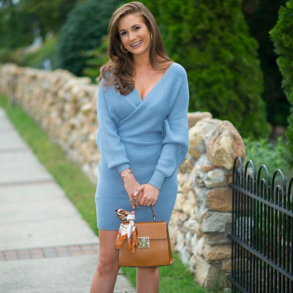 Dresses 22 Blue Fall Escape Sweater Dress