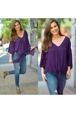 Tops 66 Trendy Tie Up Purple Top