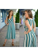 Jumpsuit Take Some Time to Teal Fall Stripe Jumpsuit