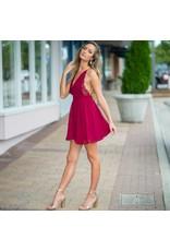 Dresses 22 Chiffon Eyelash Burgundy Lace Dress