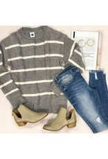 Tops 66 Fall With Me Grey Chenille Sweater