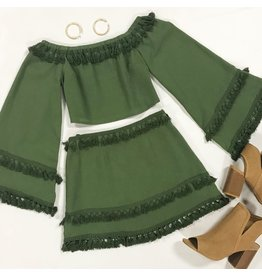 Skirts 62 Fall With Me Olive Skirt