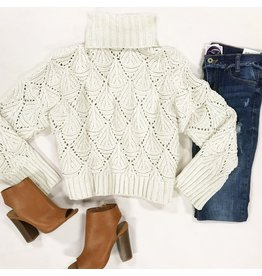 Tops 66 Chenille Love Ivory Sweater
