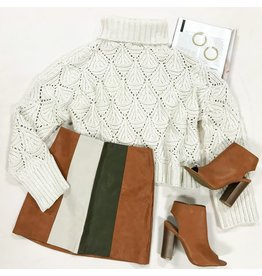 Skirts 62 Fall Fun High Waisted Colorblock Skirt