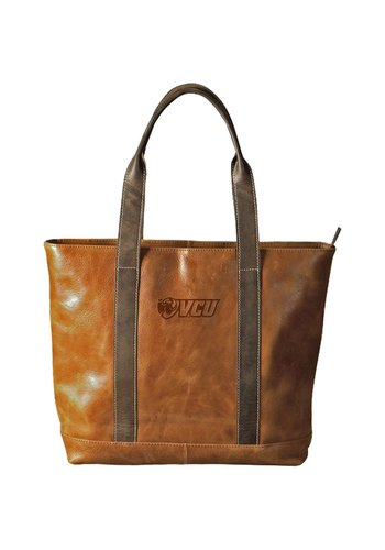 Carolina Sewn VCU Tan Leather Tote