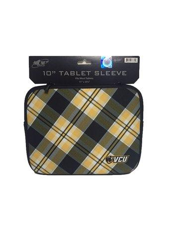 "Carolina Sewn VCU 10"" Tablet Neoprene Sleeve w/Tartan Design"