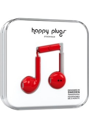 Happy Plugs Happy Plugs Plus Earbuds (Red)