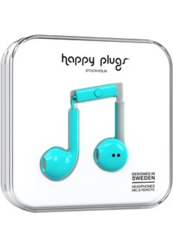 Happy Plugs Happy Plugs Plus Earbuds (Turquoise)
