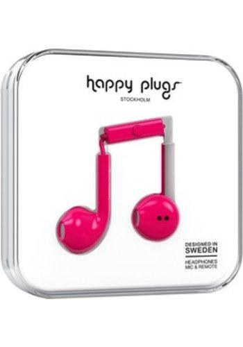 Happy Plugs Happy Plugs Plus Earbuds (Cerise)