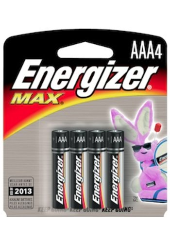 Energizer AAA Battery 4 pack