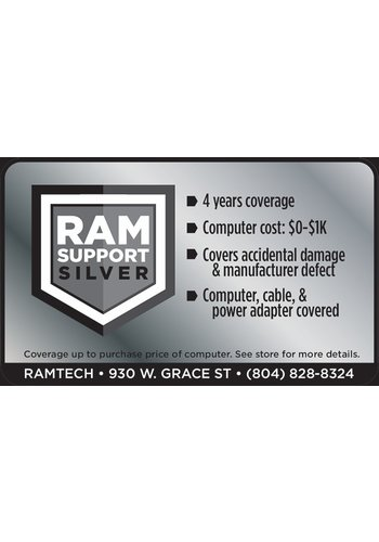 Safeware Silver RAMSupport 4-Year Warranty + First 6 Months Theft Coverage $0-$1000