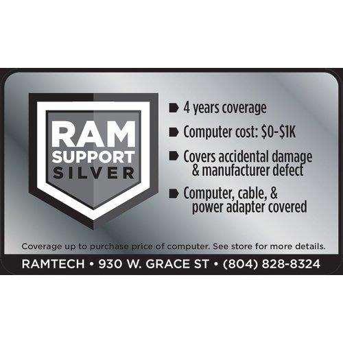 Safeware Silver RAMSupport 4-Year Warranty + First 6 Months Theft Coverage $0-$1000