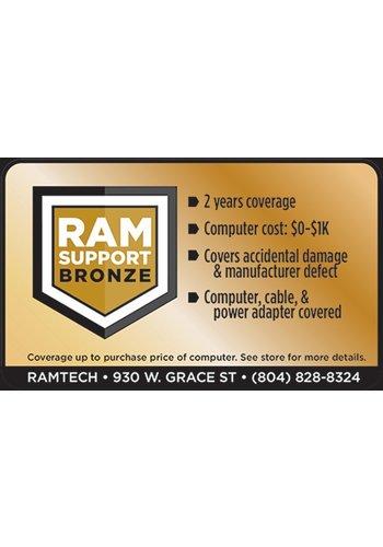 Safeware Bronze RAMSupport 2-Year Warranty + First 6 Months Theft Coverage $0-$1000