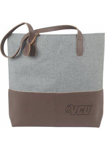 Carolina Sewn VCU Leather Heathered Tote