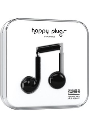 Happy Plugs Happy Plugs Plus Earbuds (Black)