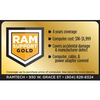 Gold RAMSupport 4-Year Warranty + First 6 Months Theft Coverage  $1000-$1999