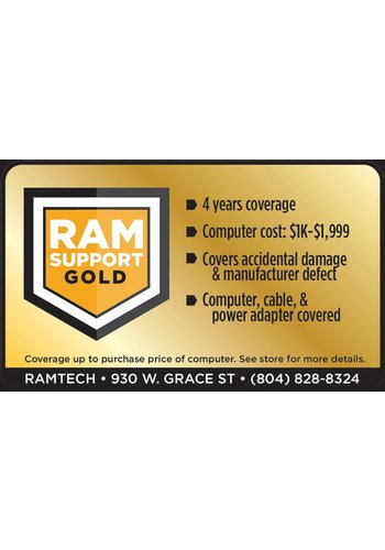 Safeware Gold RAMSupport 4-Year Warranty + First 6 Months Theft Coverage  $1000-$1999